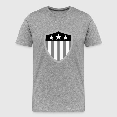 american_flag_shield_bw - Men's Premium T-Shirt