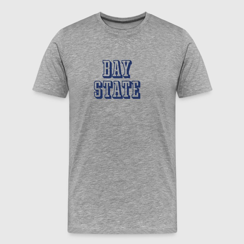 Massachusetts Bay State 3D Athletic Letter - Men's Premium T-Shirt