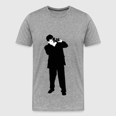 Photographer with camera silhouette - Men's Premium T-Shirt