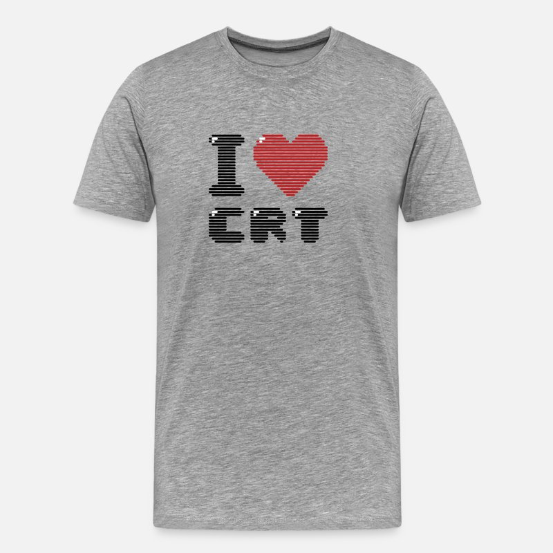Display T-Shirts - I Love CRT - Men's Premium T-Shirt heather gray