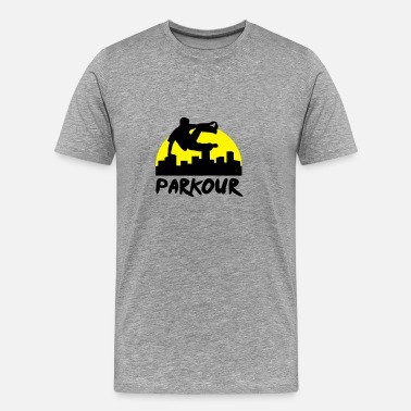 Parkour Free Running Free running in the city, parkour - Men's Premium T-Shirt