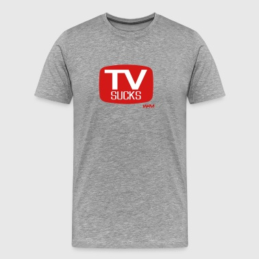 Television tv sucks by wam - Men's Premium T-Shirt