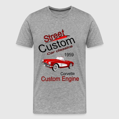 Street Custom Car Classics Corvette 1959 - Men's Premium T-Shirt