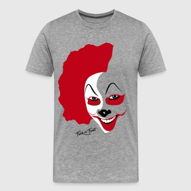 Bloody Clown Halloween Clown Mask - Men's Premium T-Shirt
