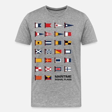 Signal Maritime Signal Flags - Men's Premium T-Shirt