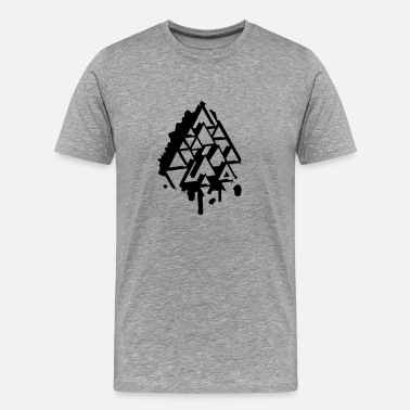 Abstract Triangle abstract Graffiti Triangle - Men's Premium T-Shirt