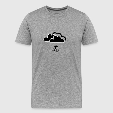 Cross-country skier in clouds - Men's Premium T-Shirt