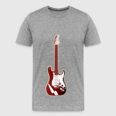 Red electric guitar - Men's Premium T-Shirt
