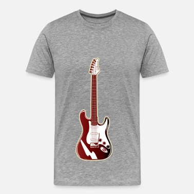 Red Guitar Red electric guitar - Men's Premium T-Shirt