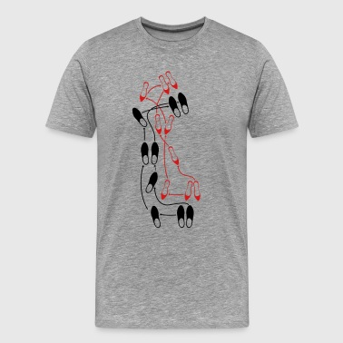 Tango Tango dance steps - Men's Premium T-Shirt