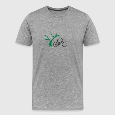 Dead Rider Bicycle with tree - Men's Premium T-Shirt