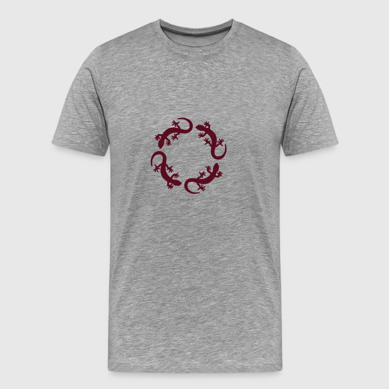 gecko circle - Men's Premium T-Shirt