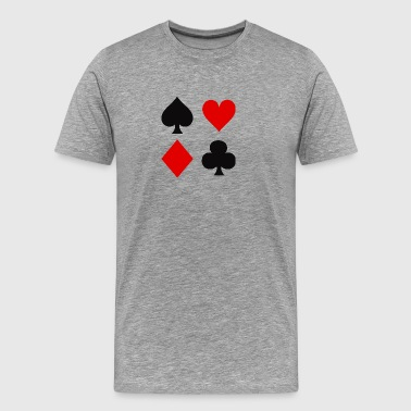 Playing Card Suits - Men's Premium T-Shirt