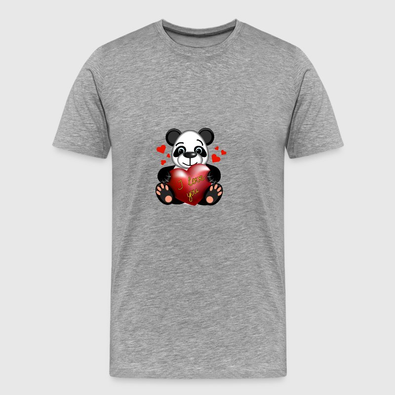 panda-bear-animal-i-love-you-wild-life-heart - Men's Premium T-Shirt
