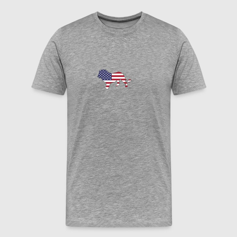 American Flag - Lion - Men's Premium T-Shirt