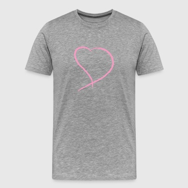 Pink Heart - Men's Premium T-Shirt