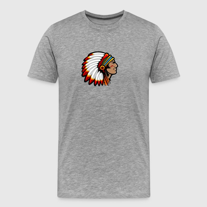 indian_with_plumage_head_cover - Men's Premium T-Shirt