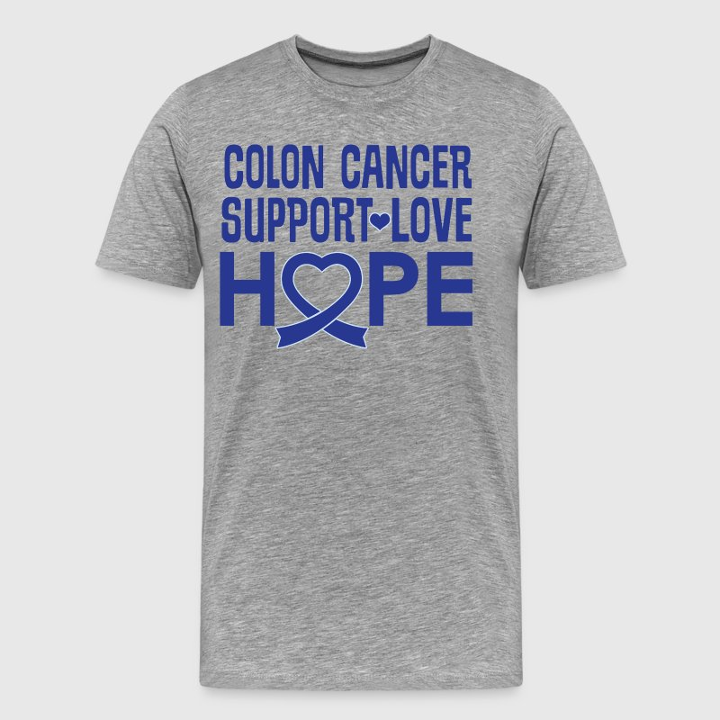 Colon Cancer Awareness Ribbon Support - Men's Premium T-Shirt