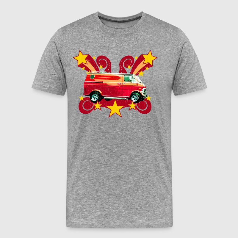 Retro 70s Van (vintage distressed) - Men's Premium T-Shirt