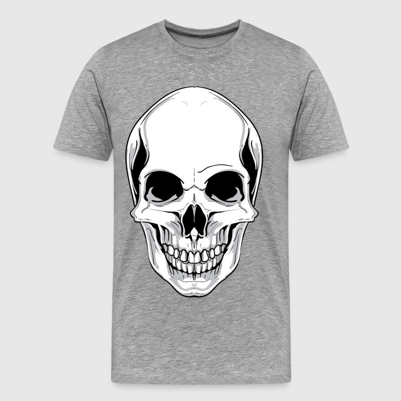 Skull front view design - Men's Premium T-Shirt
