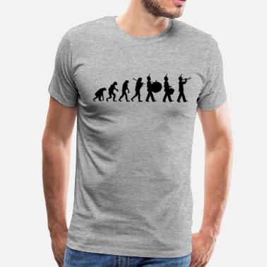 Evolution Of Marching Band Marching Band Evolution - Men's Premium T-Shirt