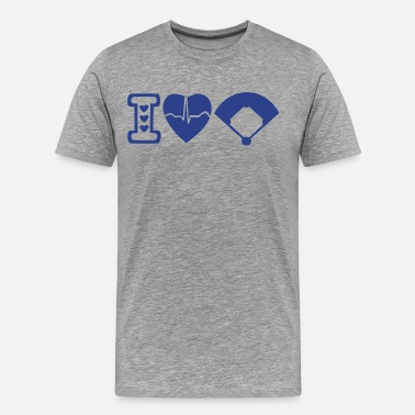 I Love Su & I love heart Baseball - Men's Premium T-Shirt