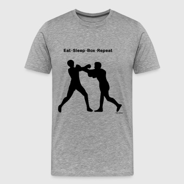 Boxing Eat Sleep Repeat Eat Sleep Box Repeat - Men's Premium T-Shirt