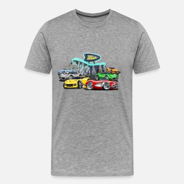 Dealership Corvette toy store - Men's Premium T-Shirt