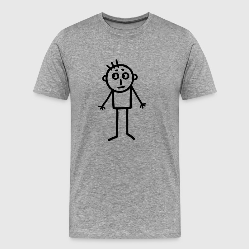 Stick figure - drawing children - Men's Premium T-Shirt