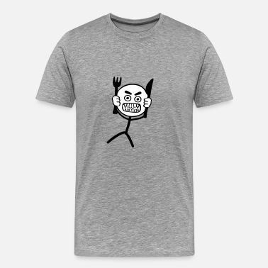 Cooking Hangry Stickman - 2 colors - Men's Premium T-Shirt