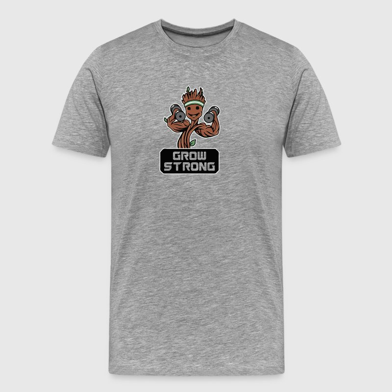 Groot Grow Strong Galaxy Gym Fitness Mashup - Men's Premium T-Shirt
