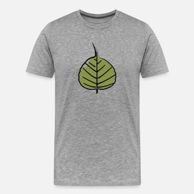 Advancing Nature bodhi_leaf_04 - Men's Premium T-Shirt