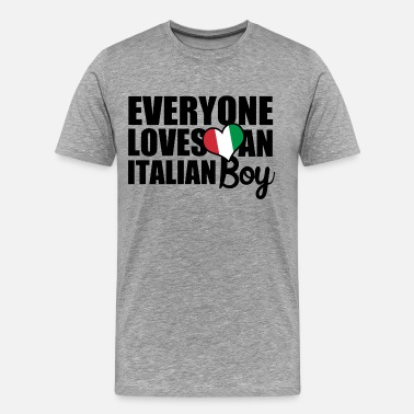 I Love Italian Boys Italian Boy - Men's Premium T-Shirt