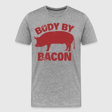 Bacon BODY BY BACON - Men's Premium T-Shirt