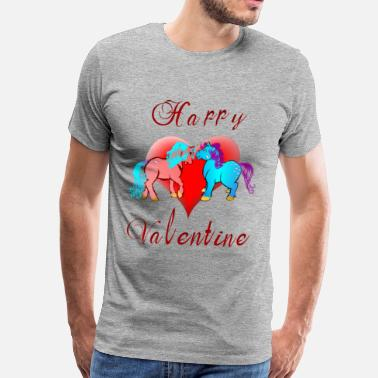 Pony Happy Valentine Ponies - Men's Premium T-Shirt