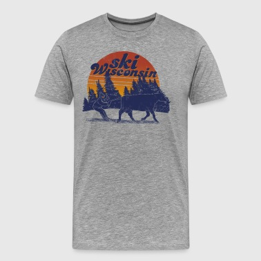 SKI WISCONSIN - Men's Premium T-Shirt
