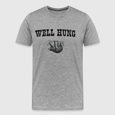 Sloth. Well Hung - Men's Premium T-Shirt