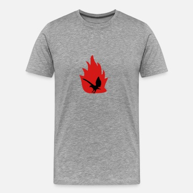 Fire Hawk Eagle with fire - Men's Premium T-Shirt