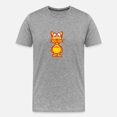 Character funny cat cartoon character animal 1110 - Men's Premium T-Shirt