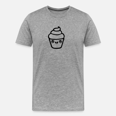 Butterfly Manga cupcake kawaii - Men's Premium T-Shirt