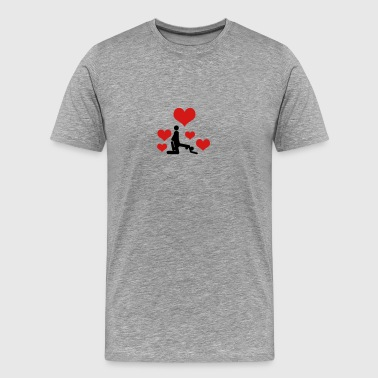 Sex with 5 hearts - Men's Premium T-Shirt