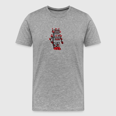 Retro Metal Toy Robot - Men's Premium T-Shirt