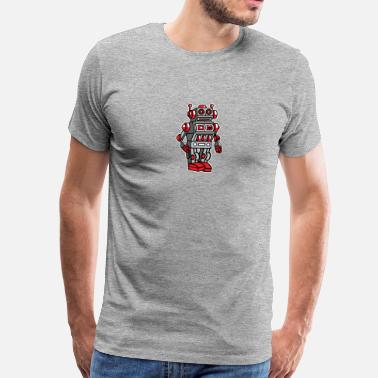 Metal Toy Retro Metal Toy Robot - Men's Premium T-Shirt