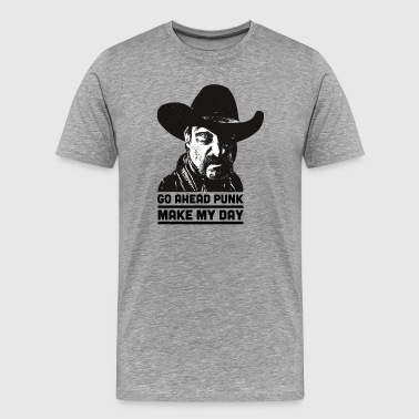 Cowboy wild west saying - Men's Premium T-Shirt