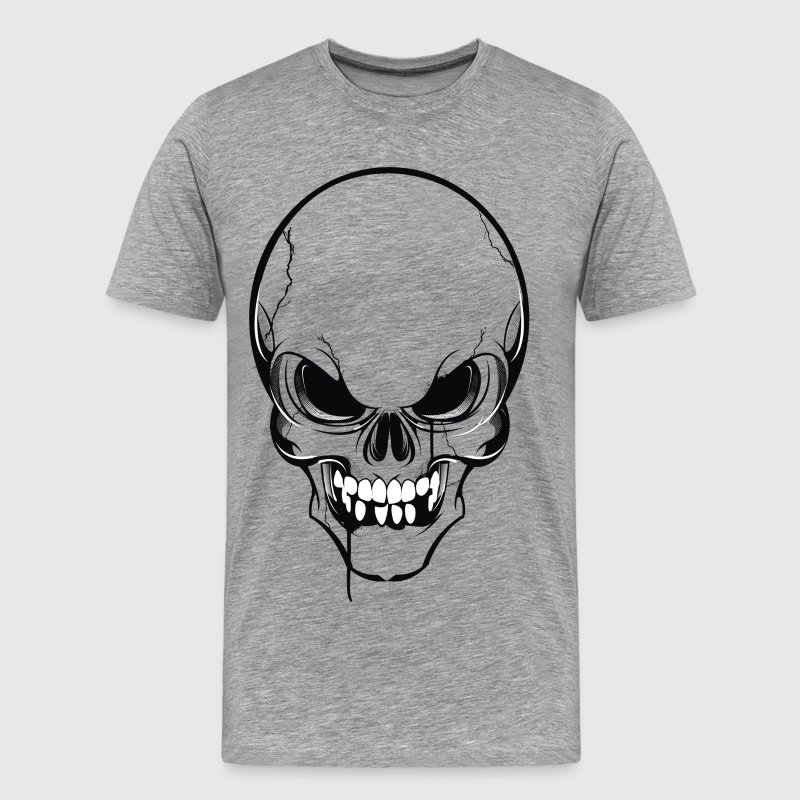Scary skull art - Men's Premium T-Shirt