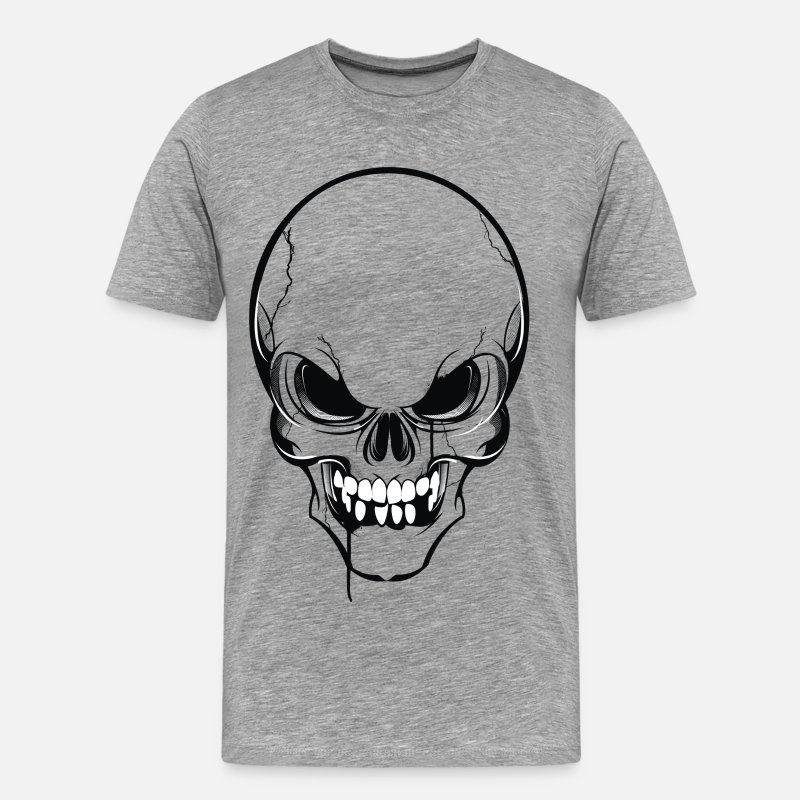 Scary T-Shirts - Scary skull art - Men's Premium T-Shirt heather gray