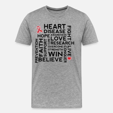 Heart Disease Heart Disease Awareness Ribbon - Men's Premium T-Shirt