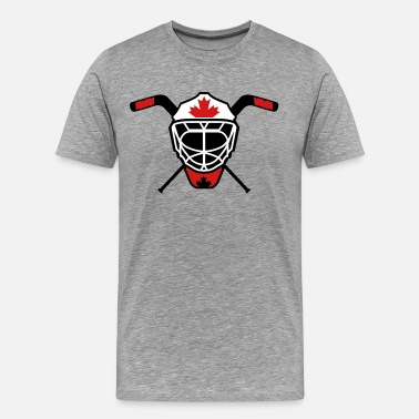 Hockey Goalie Mask Hockey Goalie Mask Helmet Canada - Men's Premium T-Shirt