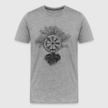 Vegvísir Vegvisir - Viking  Navigation Compass - Men's Premium T-Shirt