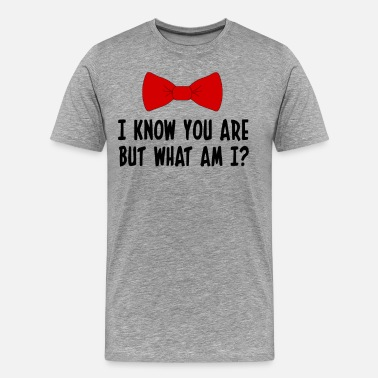 Pee Wees Big Adventure Pee Wee Herman - I Know You Are But What Am I? - Men's Premium T-Shirt